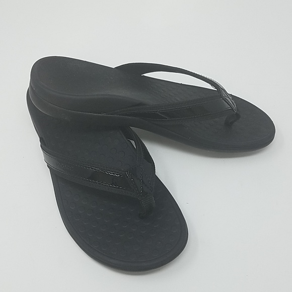 8cd4518b8124 Vionic Tide II Black Sandals Flip Flops Size 8